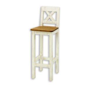 Krzesło barowe bielone