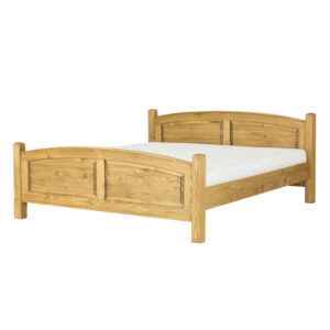 sosnowe woskowane łóżko