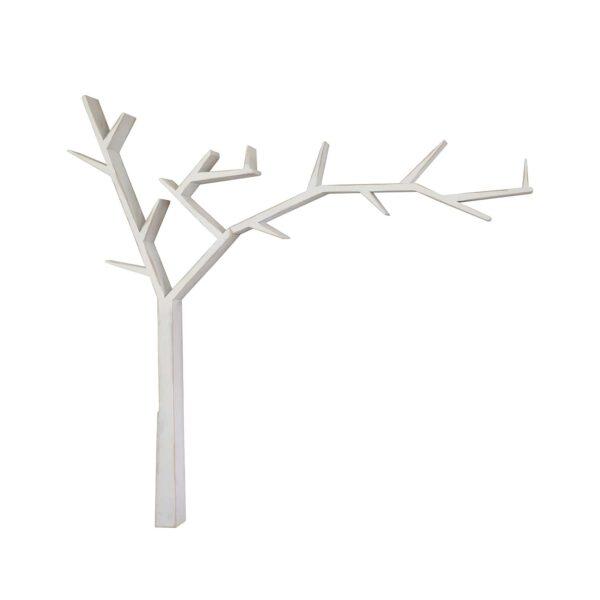 biała półka w kształcie drzewka