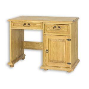drewniane biurko woskowane