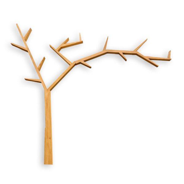 drewniana pólka ścienna drzewo