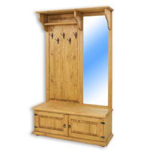 woskowana garderoba z drewna