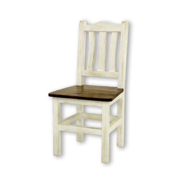 białe krzesło drewniane
