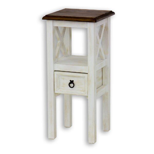 Stolik drewniany patynowany