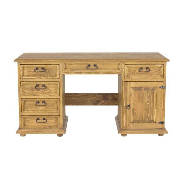 duże biurko drewniane