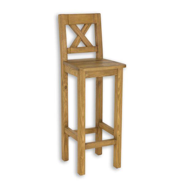 krzesło barowe drewniane