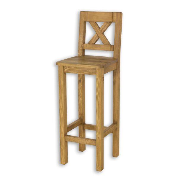 woskowane krzesło barowe