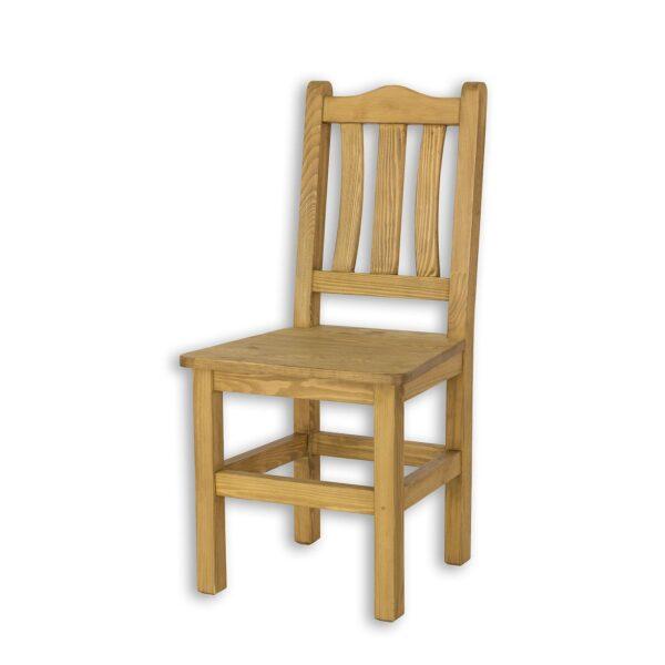 krzesło drewniane woskowane