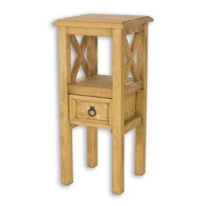 stolik drewniany woskowany