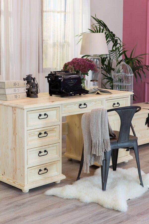 woskowane meble biurowe biurko