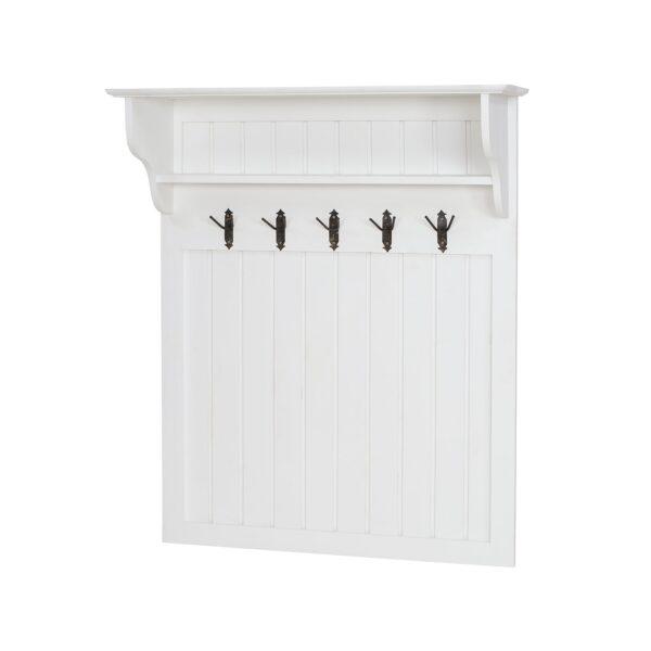 biała garderoba drewniana