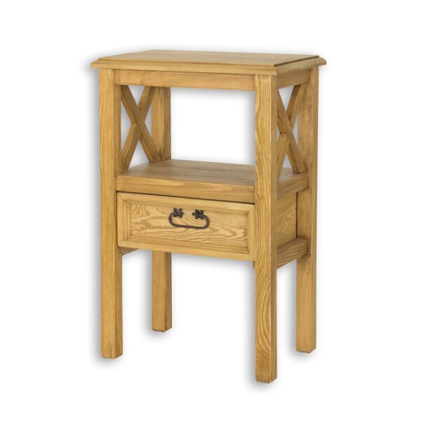 Stolik woskowany z drewna