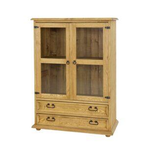 woskowana komoda drewniana