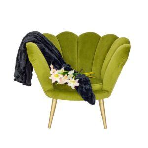 zielony fotel muszelka