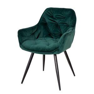 Zielone krzesło tapicerowane