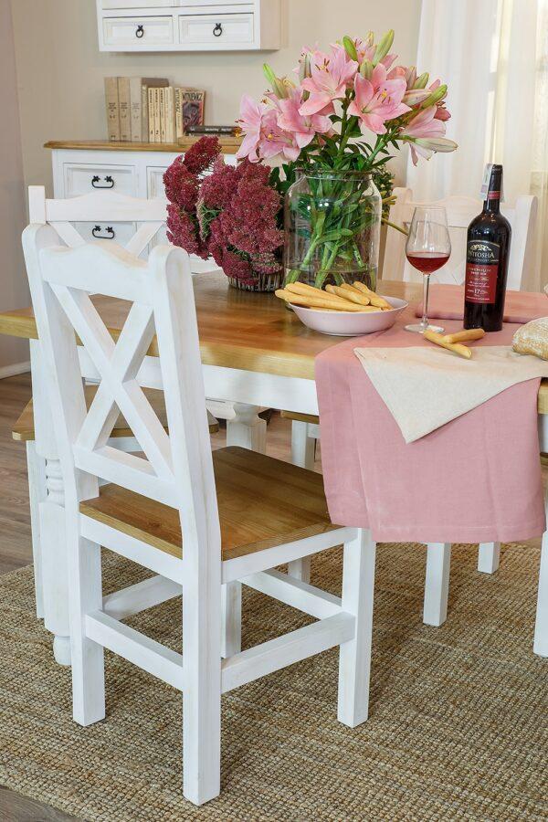 białe krzesła do jadalni