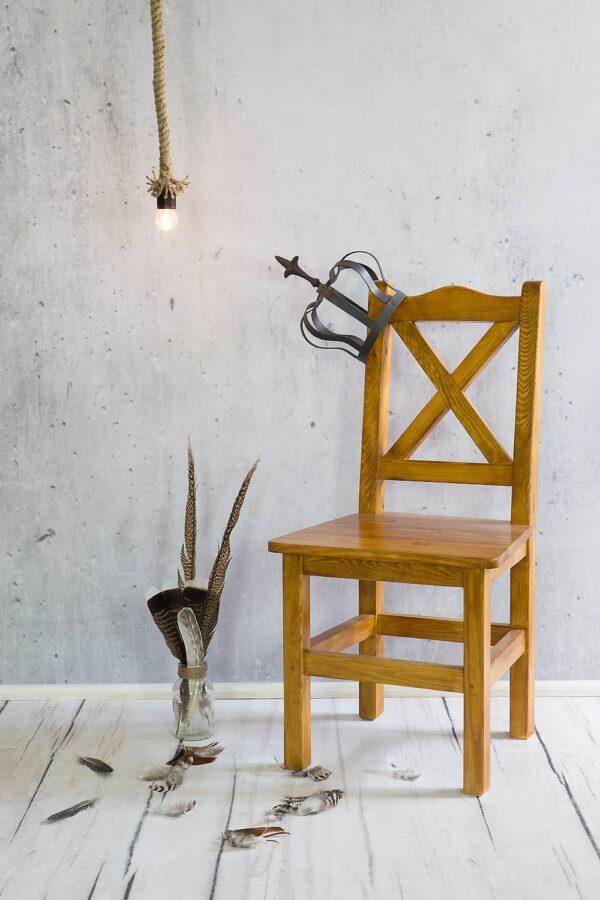 drewniane krzesło woskowane producent
