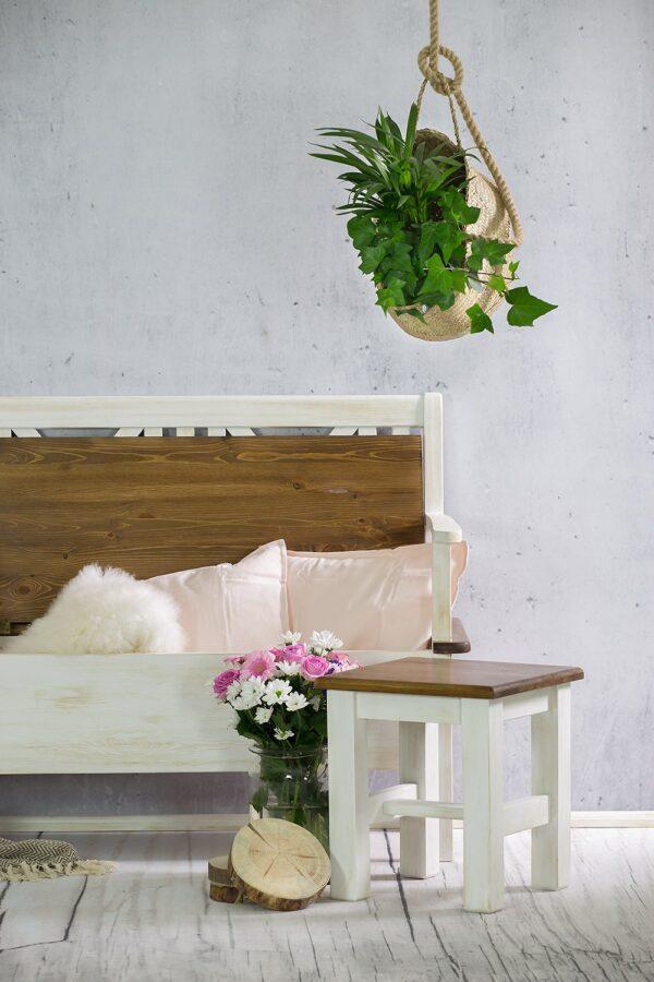 ławka otwierana biała