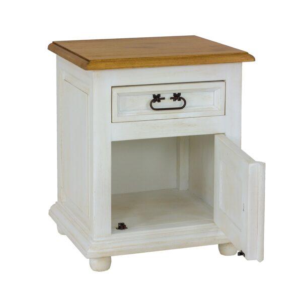biały nakastlik drewniany