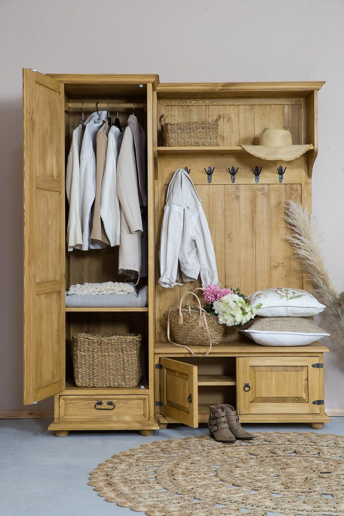 garderoba drewniane meble do przedpokoju