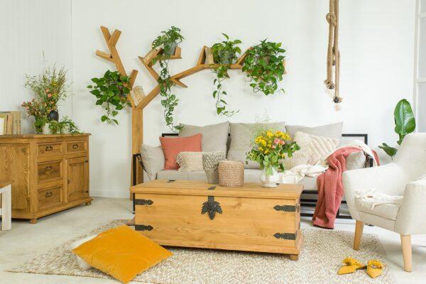 rustykalne wnętrze półka drzewo