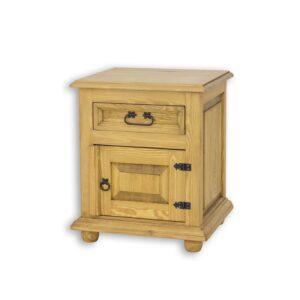 Stylowa szafka nocna drewniana