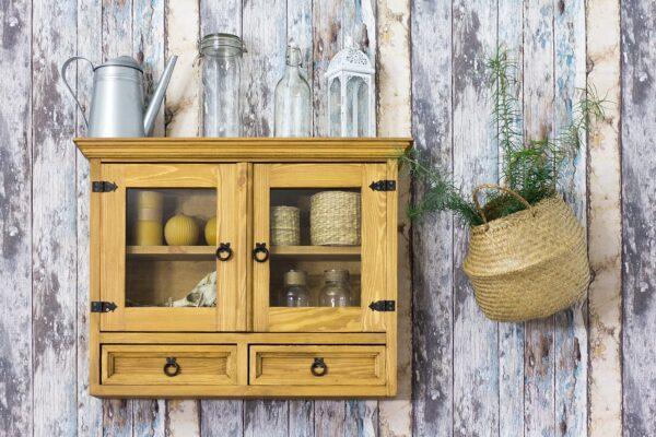 szafka wisząca drewniana woskowana