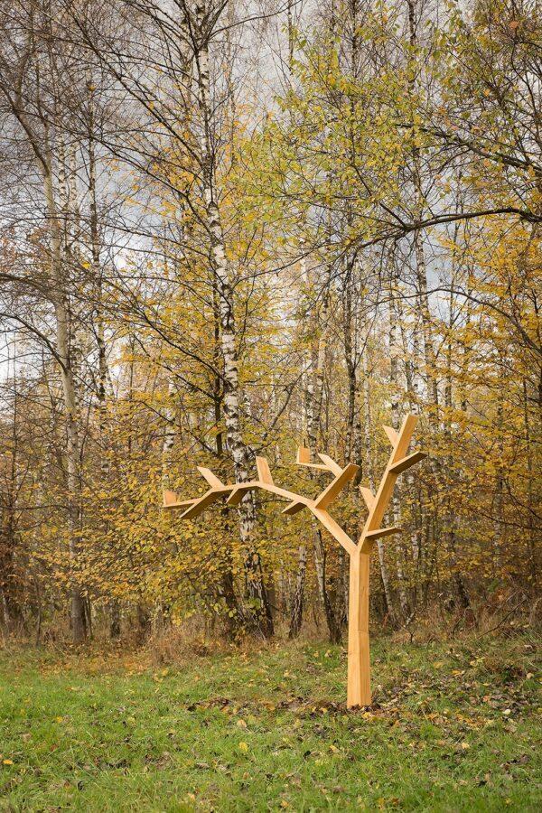 woskowana półka drzewko