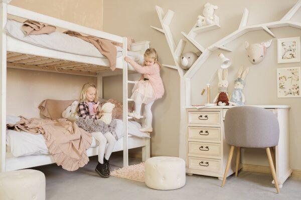inspiracje wystrój wnętrz drewniane łóżko piętrowe