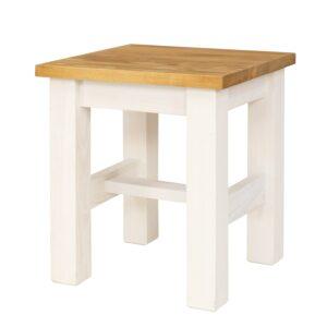 taboret bielony drewniany