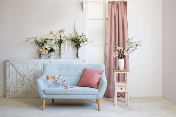 sofa błękitna meble wypoczynkowe