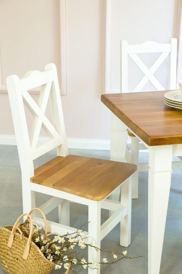 krzesło sosnowe woskowane