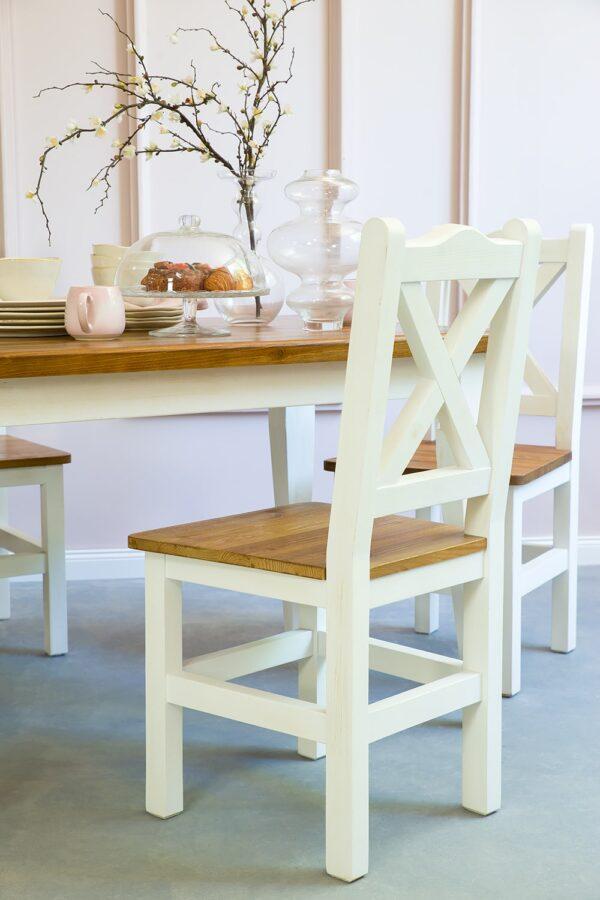 rustykalne krzesła do jadalni