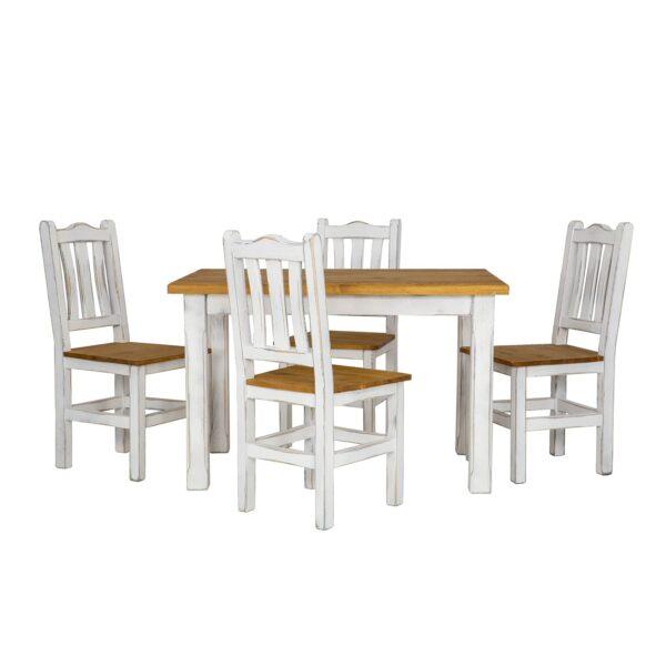 stół biały drewniany