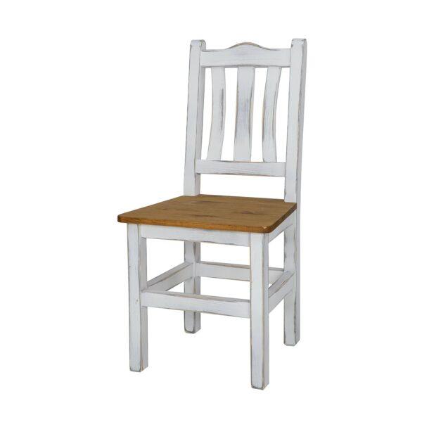 drewniane krzesło białe