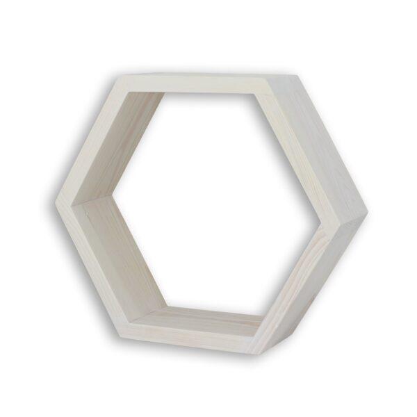 półka sześcian plaste miodu bielona
