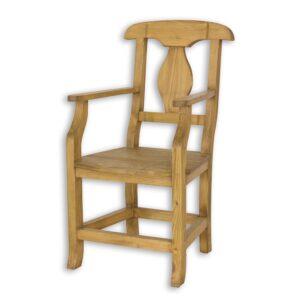 Fotel z drewna woskowany