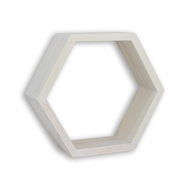Półka heksagon bielony olejowosk