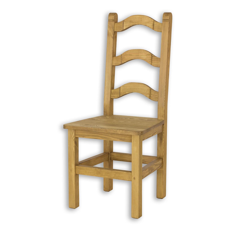 Krzesło SIL 01 w kolorze ciemny wosku