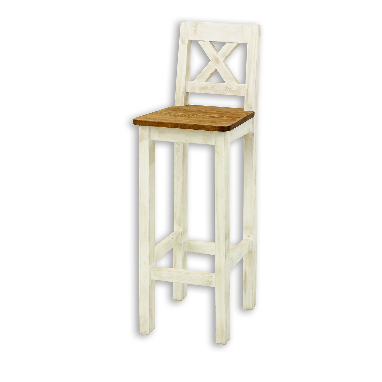 Krzesło SIL 23 w kolorze biała patyna + jasny wosk