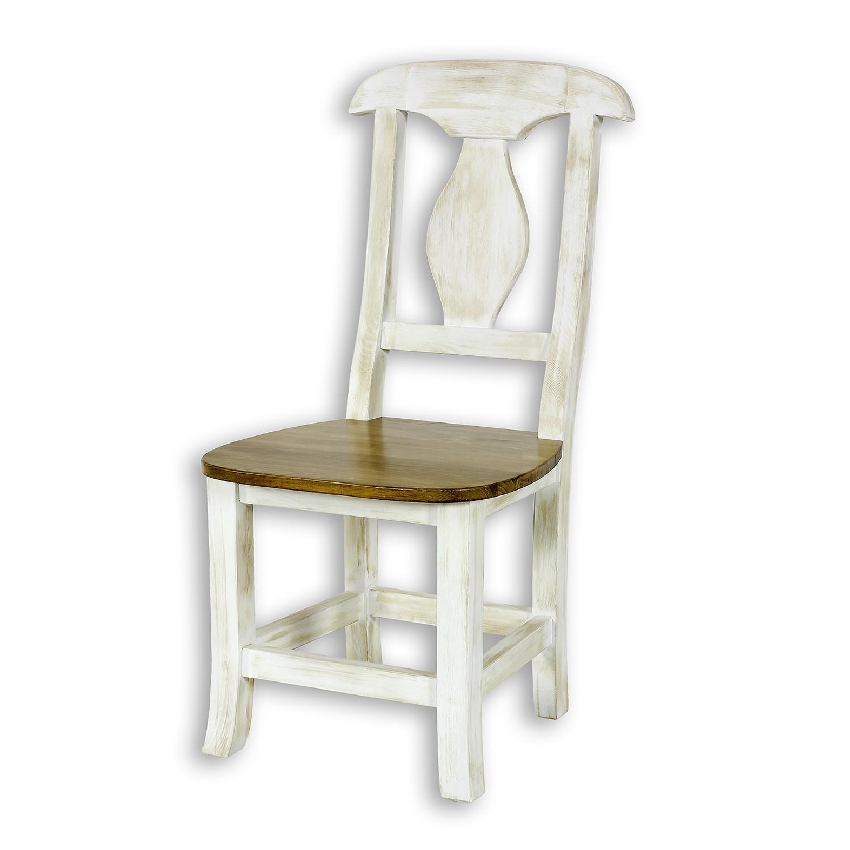 Krzesło SIL03 w kolorze biała patyna + 22-25