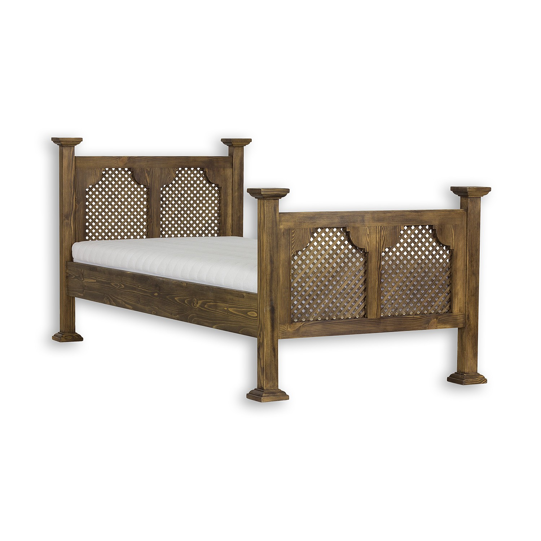 Łóżko woskowane ACC 08 brunatny wosk